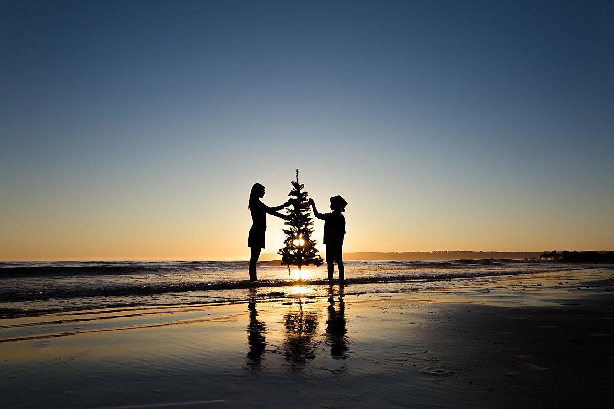 Silhouette Christmas Tree Photo