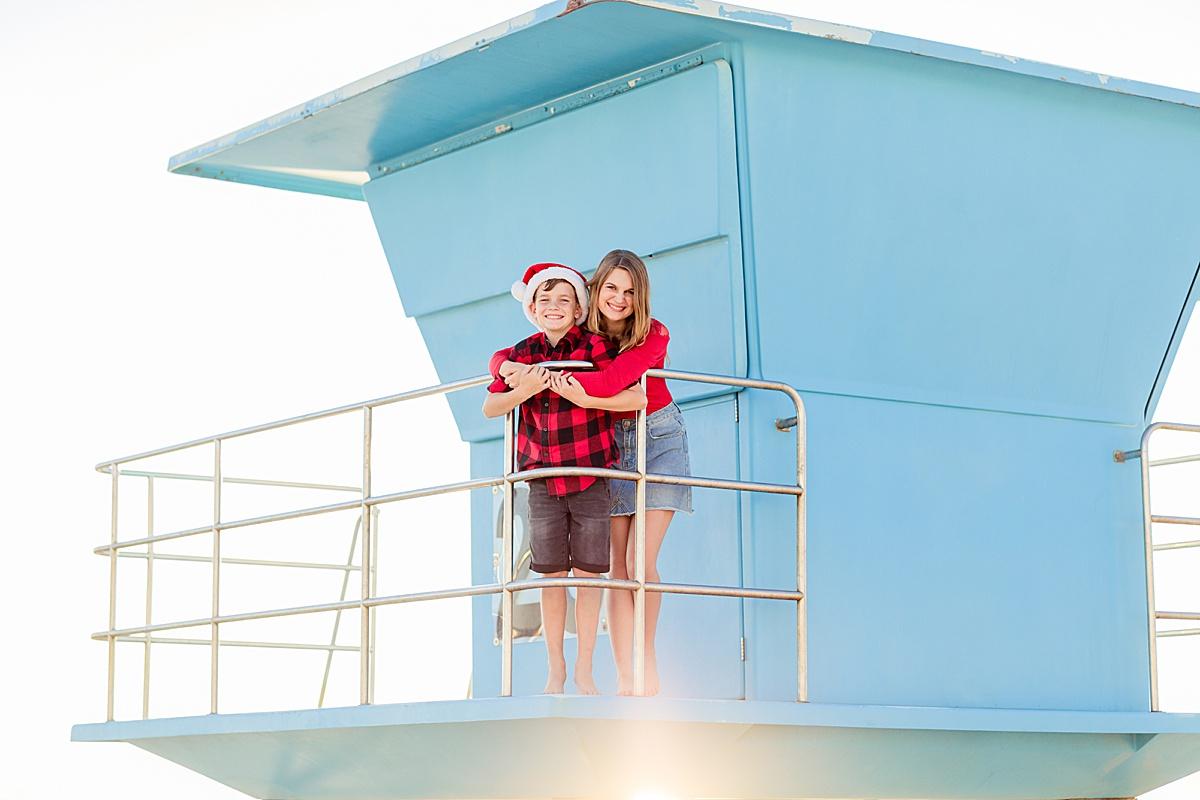 Christmas Photos on the Beach on Coronado