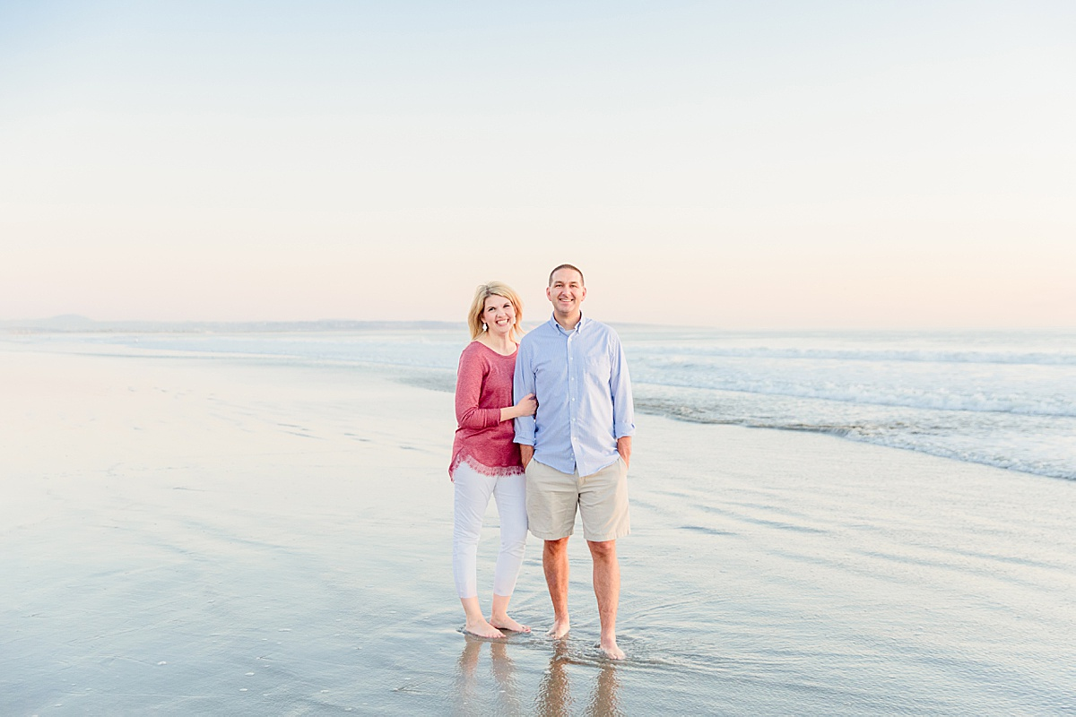 Couple Poses on the Beach | Photographers in San Diego