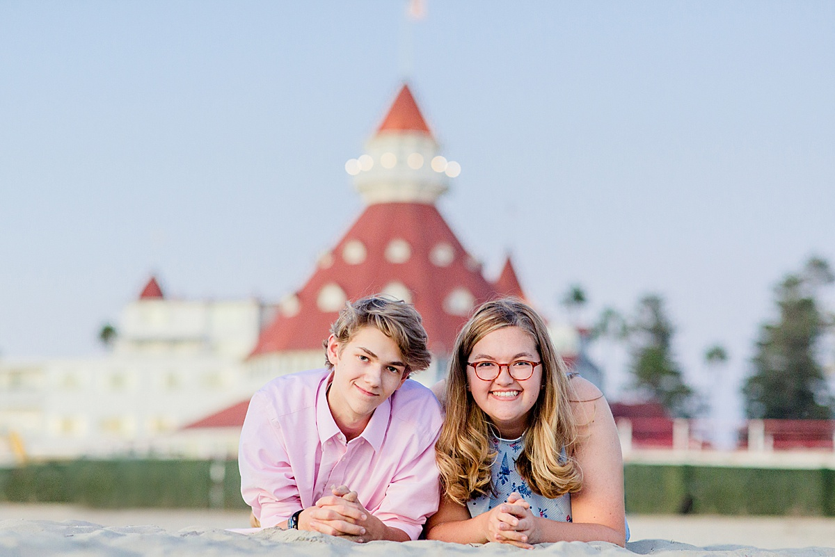 Sibling Photography at the Hotel del Coronado | San Diego Beach Photos