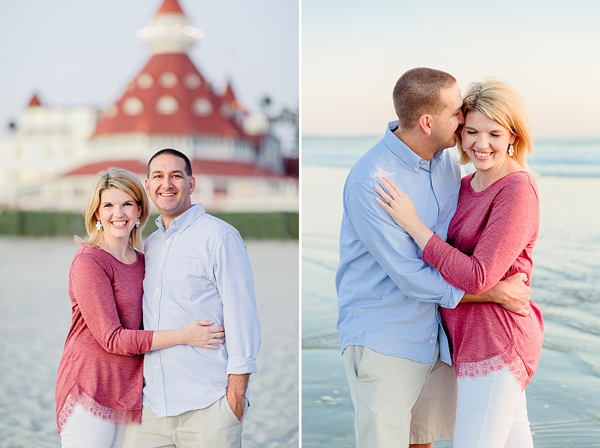 Couple Photography at the Hotel del Coronado | San Diego Beach Photos