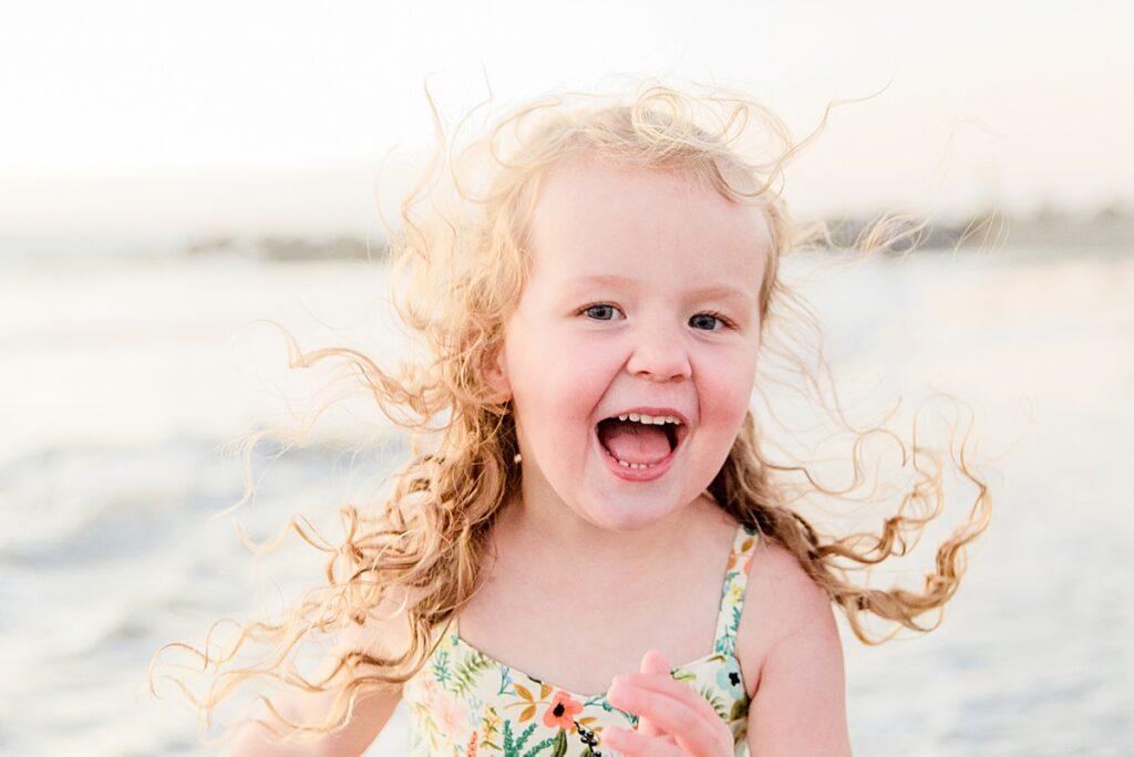 Curly Hair Little Girl