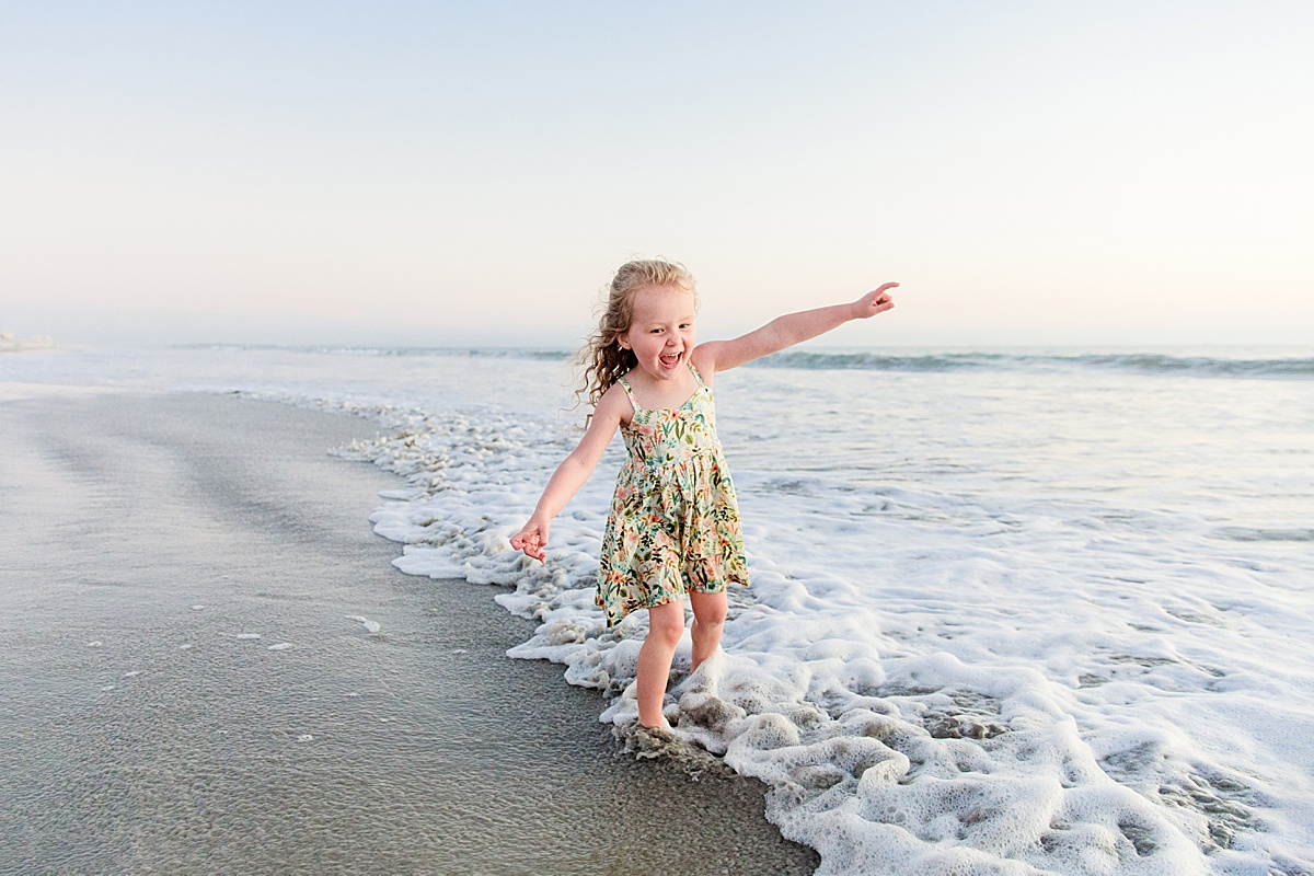 Little Girl in the Waves | Photographers in San Diego