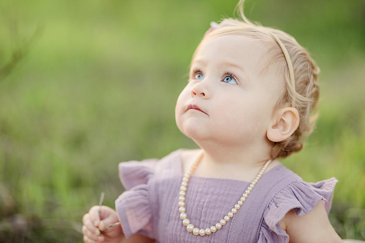 Little Girl Looking