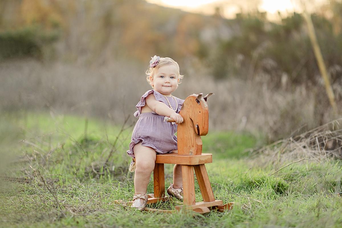 Rocking Horse Photos Little Girl