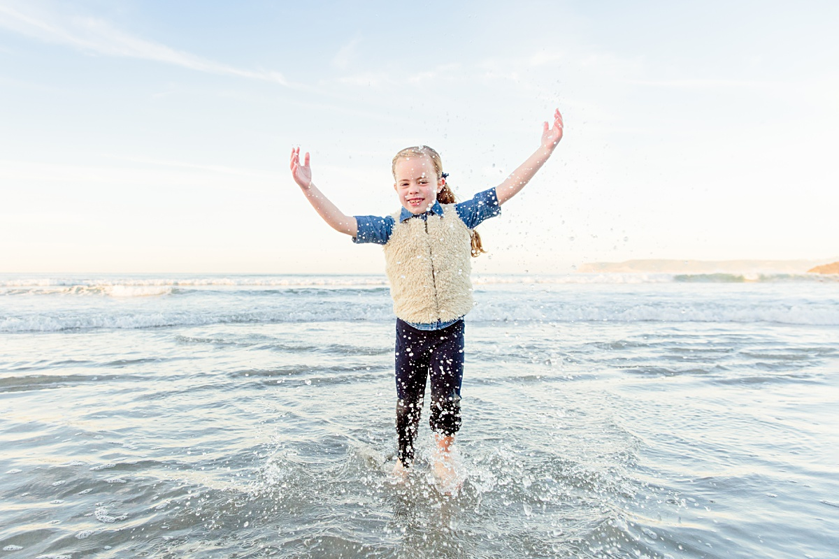 Child Splashing in the Waves | Coronado Photos