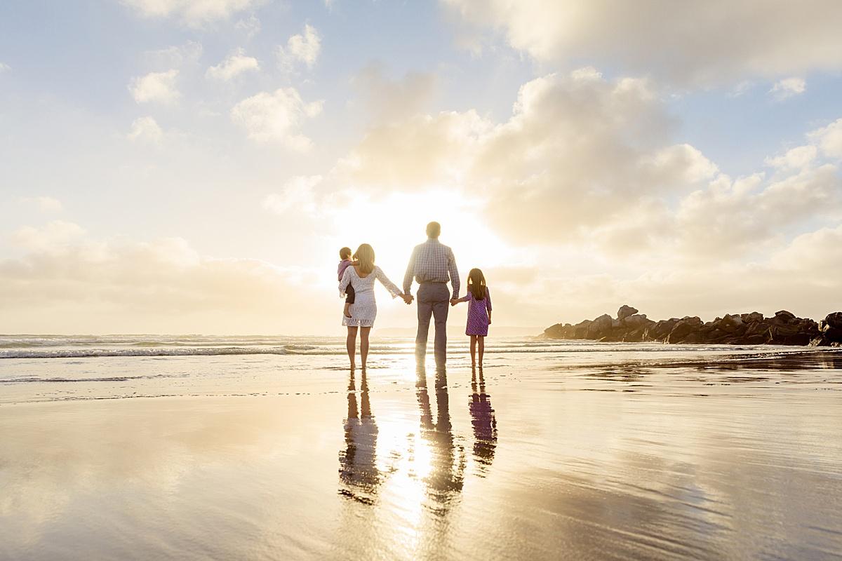 Family Walking into the Sunset | Coronado, CA