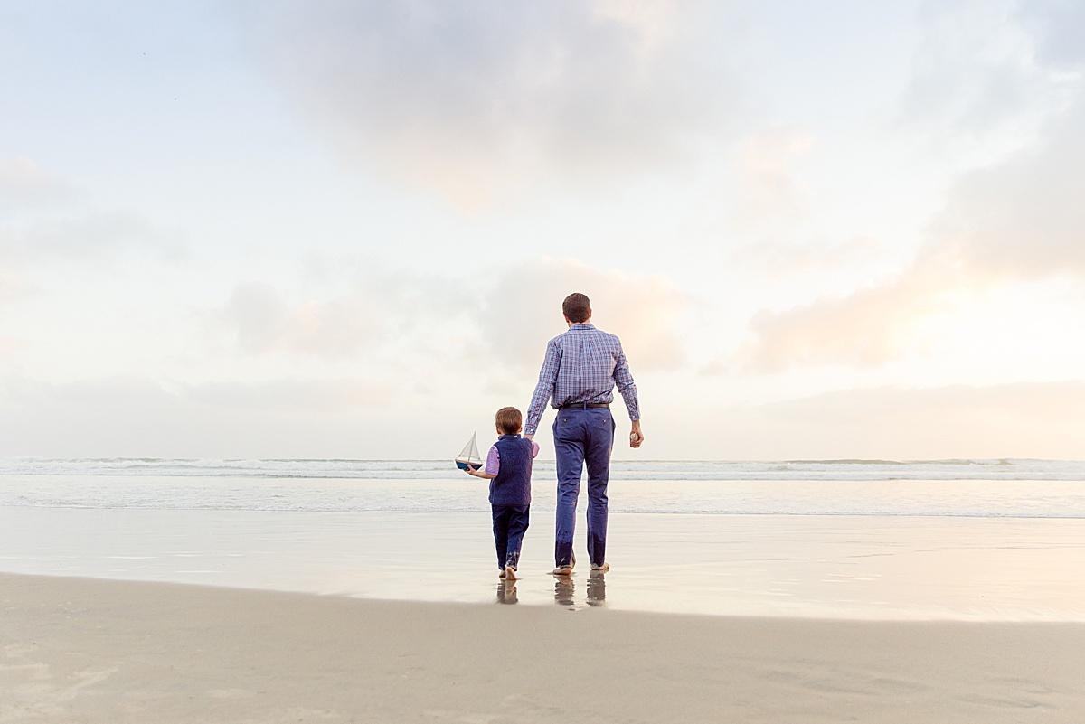 Father and Son Coronado Beach Photo
