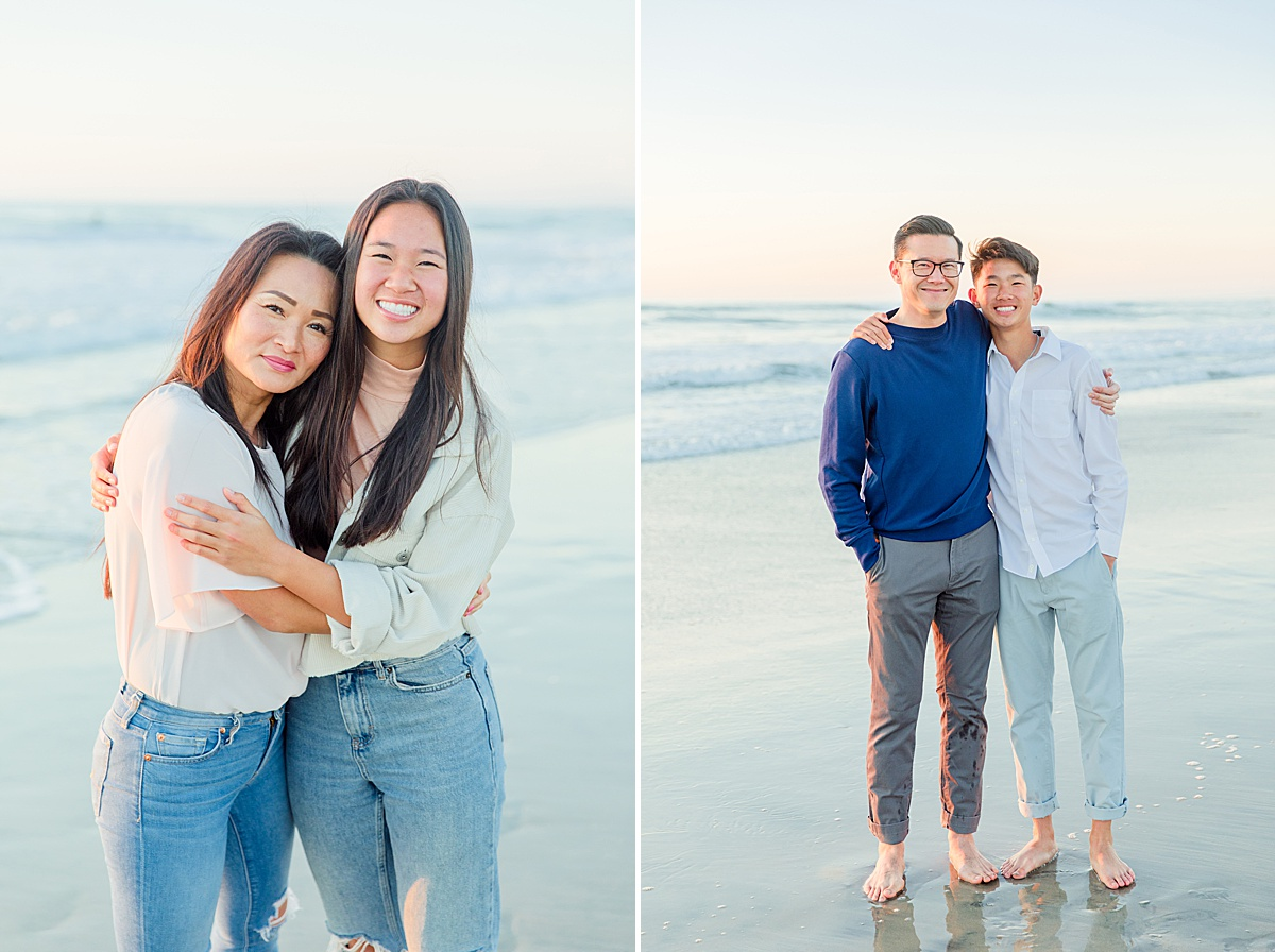 Family Session on the Beach San Diego