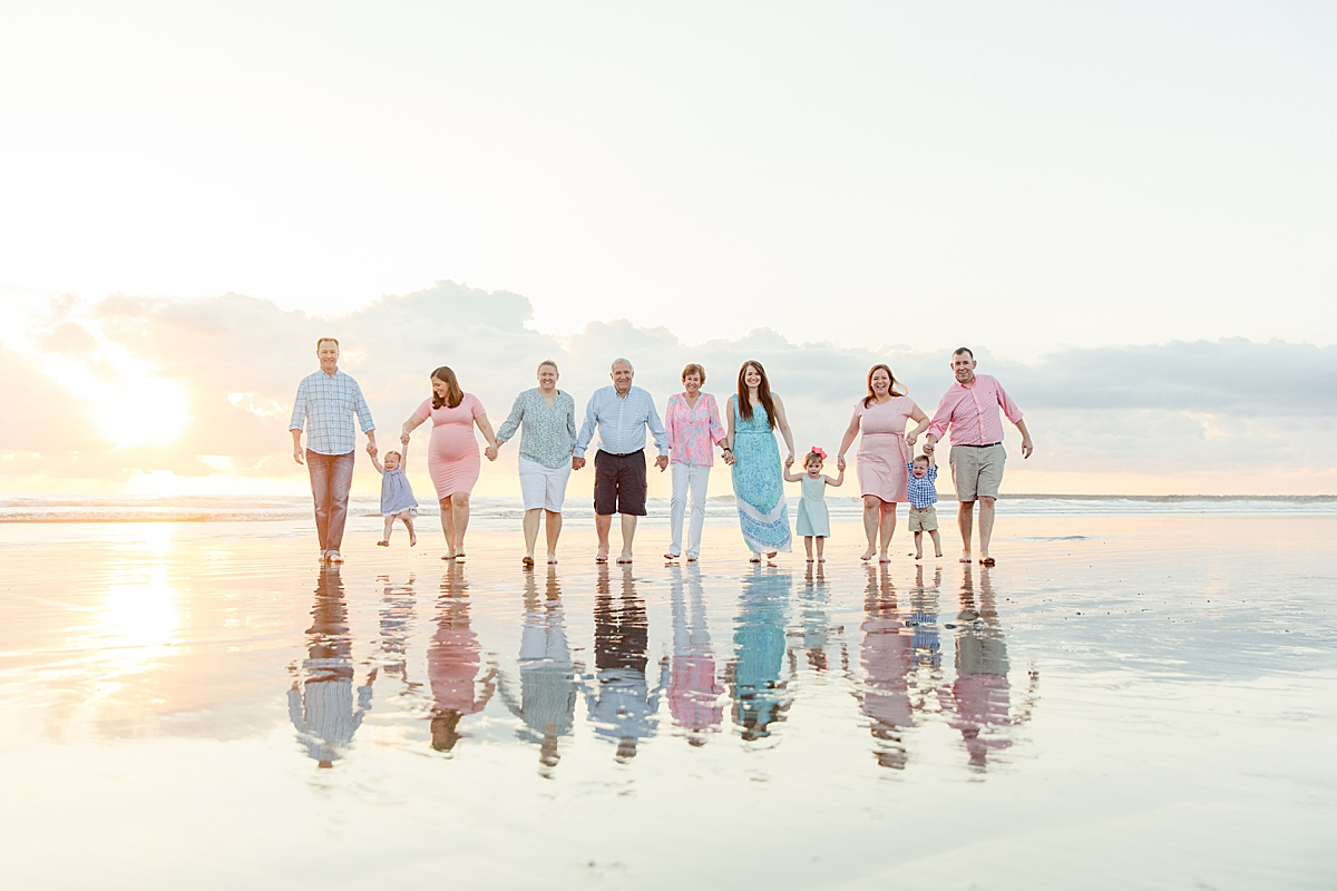 Extended Family Reflection Photo on the Beach