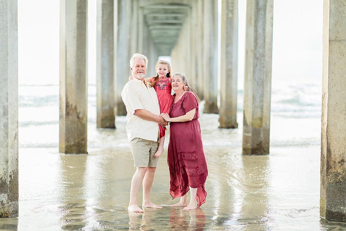 Grandparents Under Scripps Pier Photography