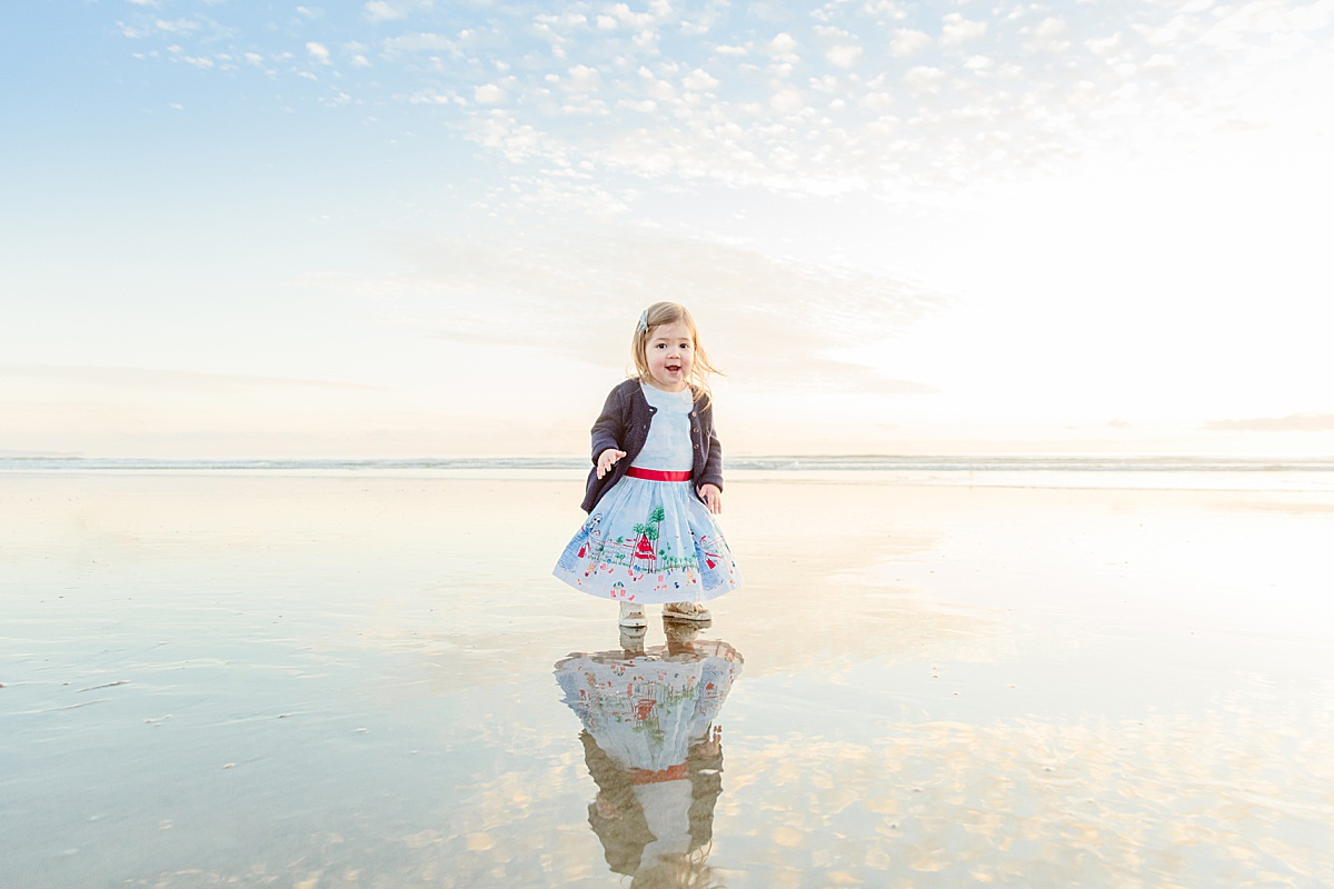 Little Girl on the Beach | Sunset on the Shore