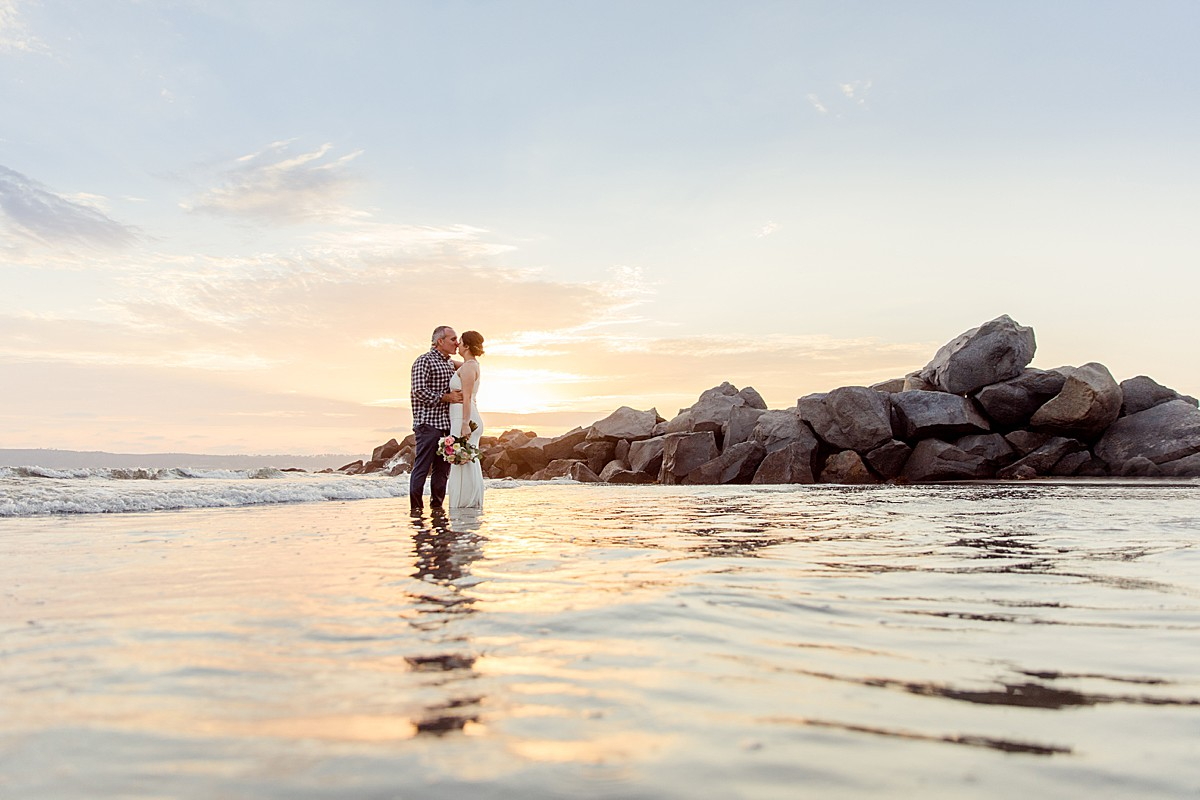 Sunset Beach Wedding in San Diego