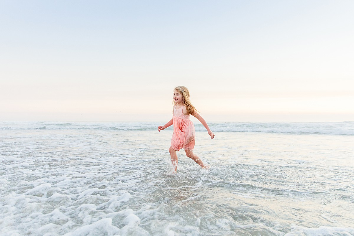 Little Girl Spinning on the Shore