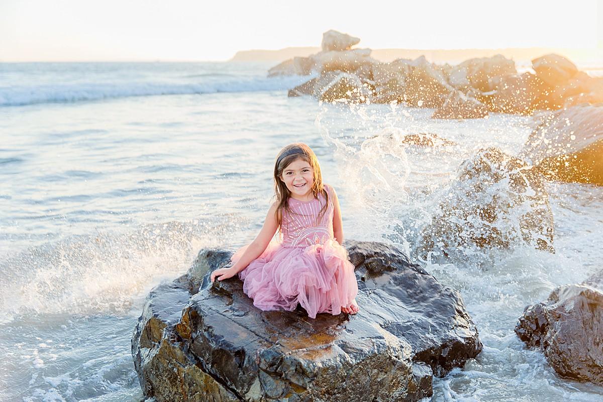 Little Girl on the Rocks