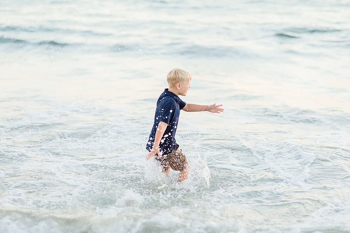 Playing in the Water on the Beach