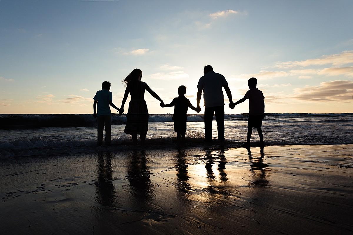 San Diego Silhouette Beach Photo