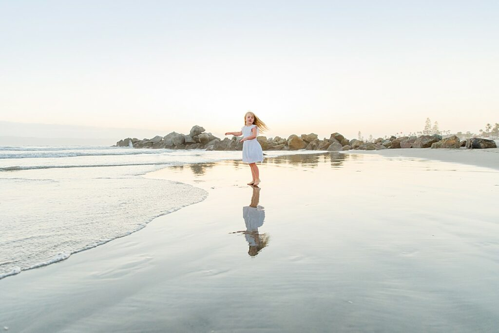 Twirling on the Beach