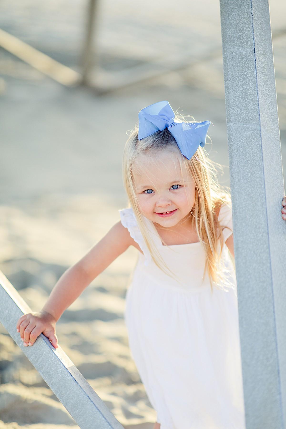 Little Girl on LIfeguard Tower