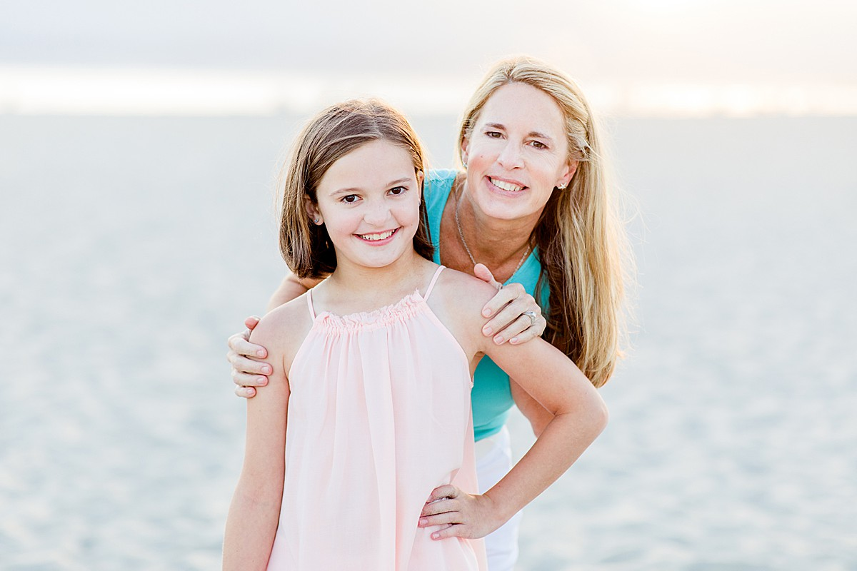 Mother and Daughter Photo on the Beach
