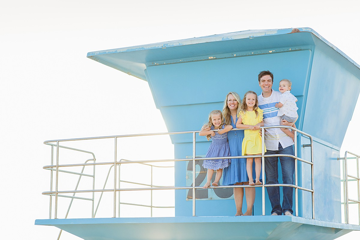 Family on Lifeguard Tower