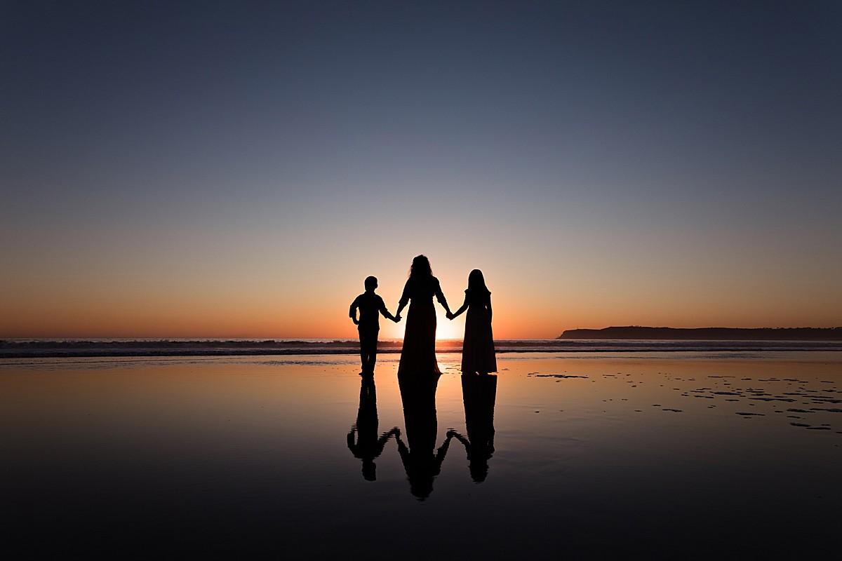 Silhouette Beach Photo San Diego