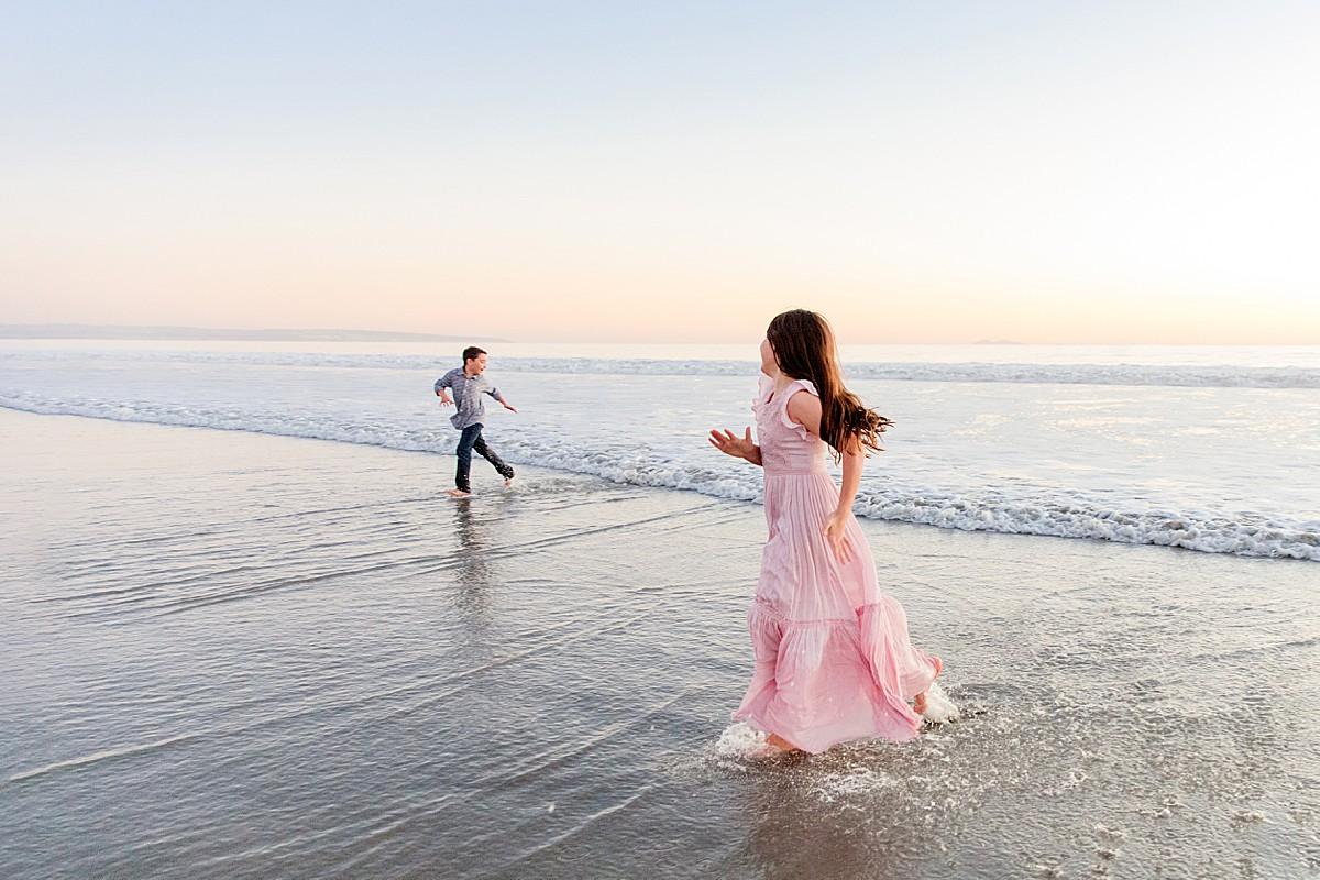 Children Playing on the Beach Photo San Diego