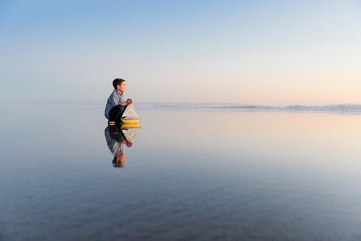 Boy with Boat San Diego