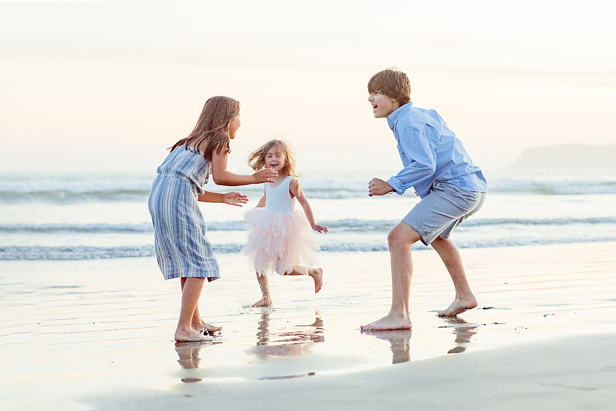 Children running on the Water